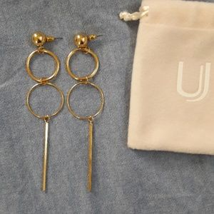 Uncommon James Baller earrings 14kt plated brass